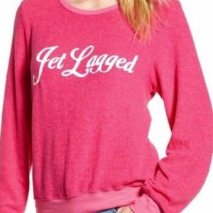 NWT Wildfox dream scene jet lagged pink sweatshirt